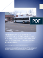 Air Pollutant Emission From Conventional Diesel, Hybrid Diesel, Compressed Natural Gas Fuel Buses Compared Analysis