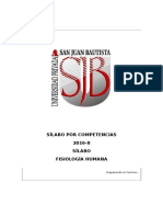 Silabo Fisiologia Humana 2016-II