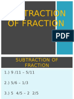 Subtraction of Fraction