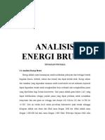 Analisis Energi Bruto