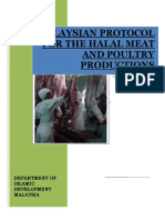 Malaysian Protocol for the Halal Meat & Poultry Productions