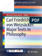 Carl Friedrich Von Weizsacke - Major Texts in Philosophy