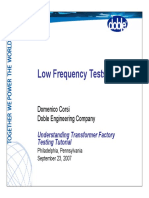 4 Low Frequency Testing