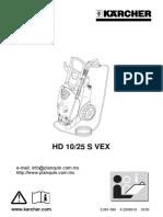 Manual Hd10-25s 12861090 Karcher