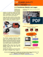 Mattina Class A transformer monitor and logger