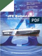 JFE Engineering BWMS - Ballast Ace