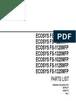 Kyocera_FS Parts List_1020_1220_1120_1320_1025_1125_1325