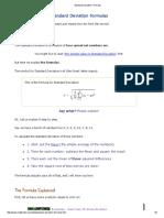 2-Standard Deviation Formulas