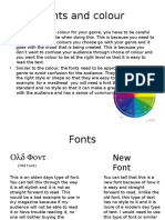 Explaining Colour and Fonts- Leeroy