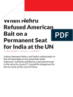 When Nehru Refused American Bait on a Permanent Seat for India at the UN - The Wire