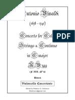 Vivaldi Cello Concerto RV 399 F.III N 6 in C Major