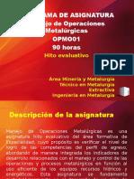 PPT 1_Manejo de Operaciones Metalurgicas