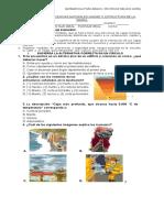 Evaluación de Ciencias Estructura de La Tierra