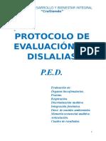 PED. Protocolo de Evaluacion de Dislalias