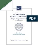 riforma costituzione 2016