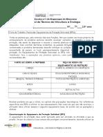 Ficha de Trabalho 12 Pesticidas Equipamentos de Protecção Individual (EPIs);