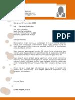 Contoh Kop Surat Lamaran Kerja 5
