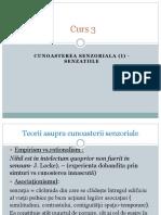 Curs 2.1.DIDFC Cunoasterea Senzoriala. Senzatiile