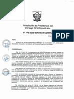 Resolución N°175-2016-SINEACE-CDAH-P