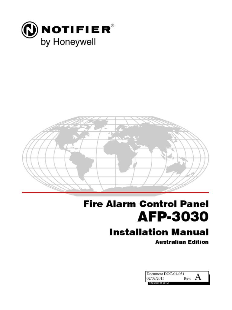 Fire Alarm Control Panel Installation Manual: Australian