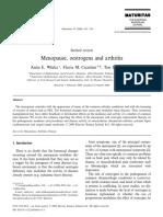 Menopause Oestrogen and Arthitis . Elsevier