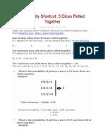 Probability Shortcut