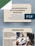 Efectos Hemodinámicos de La Kinesiterapia Multimodal