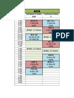 2nd Sem Block Schedule