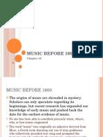 Music Before 1600