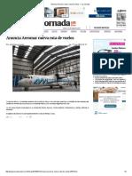 Anuncia Aeromar Nueva Ruta de Vuelos — La Jornada