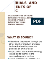 Materials and Elements of Music