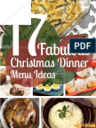 17 Fabulous Christmas Dinner Menu Ideas Free ECookbook