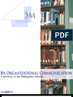 BA Organizational Communication - Freshman Primer 2010