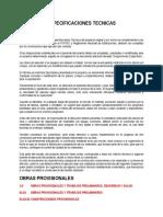 Especificaciones Tecnicas Camal Pampas
