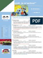 Dépliant Publicitaire Activités Mercredis PM Bloc 2 1e Cycle 2016 2017