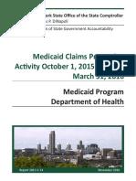 DiNapoli Medicaid Audit 113016