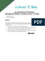 Understand and Troubleshoot IP Address Management (IPAM) in Windows Server 8 Beta