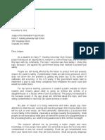 letter - google docs