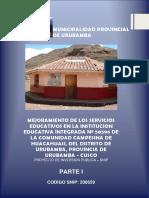 Mejoramiento de los Servicios Educativos en la Institución Educativa Integrada N° 50596 de la Comunidad Campesina