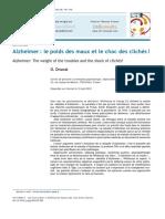 Alzheimer Le Poids Des Maux Et Le Choc Des Clichés