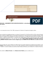 Colision de Competencia Negativa en Bienes Fiscalers y de Uso Pubnlico