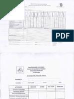 Hoja de Ruta de Evaluacion Asistencial e Informe de Actividades Diarias