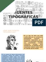 Fuentes Tipograficas