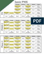 P90X Calendar (Alternate)