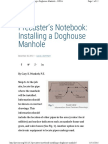 Precasters Notebook Installing a Dog HOUSE