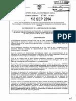 Decreto 1782 Del 18 de Septiembre de 2014