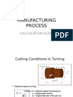 Calculation Manufacturing Process