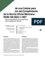"""Terrés-Speziale (2001) """"Propuesta de una cédula para la verificación del cumplimiento de la Norma Oficial Mexicana NOM- 166- SSA1-1997, Revista Mexicana de Patología Clínica..pdf"""