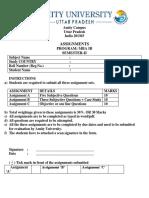 Export Import Documentation and Logistics Assignment