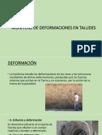 Monitoreo de Deformaciones en Taludes